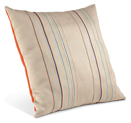 Striped outdoor throw pillows modern outdoor pillows for Room and board pillows