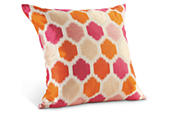 Trellis pillow in pink