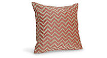 Herringbone Poppy Pillow