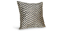 Herringbone Black Pillow