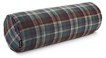 Wool Green Plaid Bolster Pillow