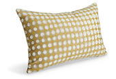 Dot pillow in gold