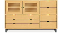Copenhagen Custom 44h 70x20 Seven-Drawer/Two-Door Cabinet in Maple w/NS Base