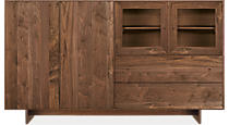 Hudson Custom 50h 86x20 Cabinet in Walnut