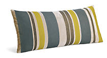 Multistripe Mist/Citron Pillow