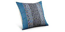 Code 22w 22h Pillow in Indigo