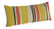 Multistripe Orange Pillow
