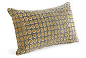 Dot pillow in camel