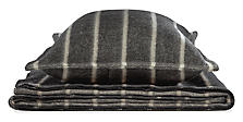 Passage Blanket & Sham in Black/Grey