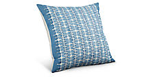 Reflection 22w 22h Pillow in Indigo