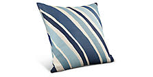 Wave 22w 22h Pillow in Indigo