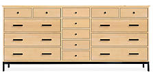 Linear 83w 20d 38h Cabinet in Maple with Natural Steel