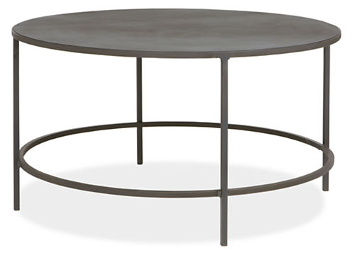 Slim Round Cocktail Table In Natural Steel Modern Cocktail Coffee Tables Modern Living