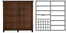 Bennett Anywhere Armoire with Wine Rack & One Drawer in Mocha