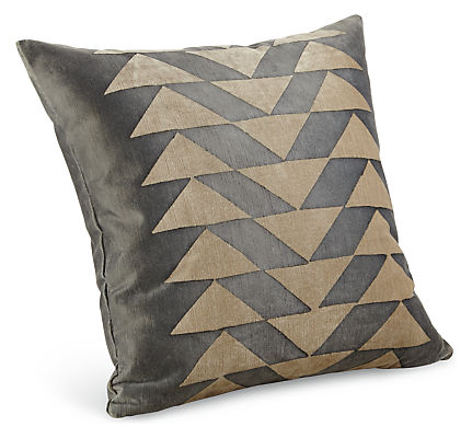 Delfina hand block printed throw pillow modern patterned for Room and board pillows
