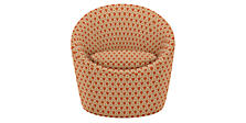 Celeste Swivel Chair in Sera Tangerine