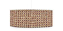Dot 24 diam 9h Round Pendant in Plum/Nutmeg