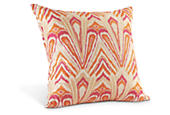 Flame pillow in pink