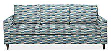 "Trenton 91"" Sofa in Phalen Ocean"