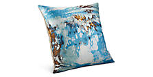 Illusion 20w 20h Throw Pillow in Aqua