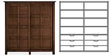 Bennett Anywhere Armoire with Six Drawers in Mocha