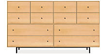 Hudson 86w 24d 50h Cabinet in Maple with Natural Steel