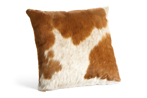 Natural cowhide pillows accent pillows accessories for Room and board pillows