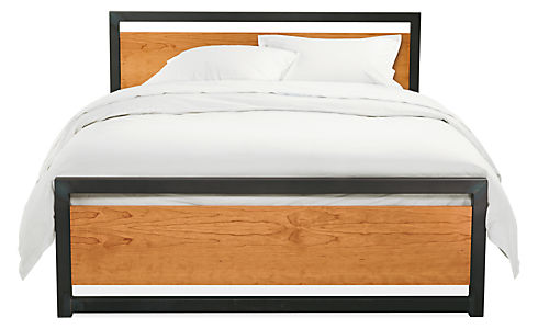 piper wood bed in natural steel modern beds platform beds modern bedroom furniture room board
