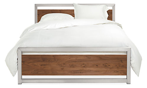 Room And Board Piper Stainless Steel Full Bed
