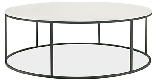 Tyne Round Cocktail Tables In Natural Steel Modern
