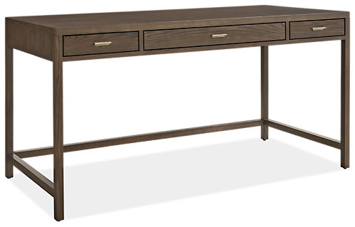 Berkeley Modern Wood Desk Berkeley Desk In Bark With