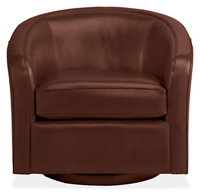 Amos Leather Swivel Chair Modern Accent Lounge Chairs
