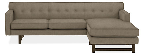 Andre sofa with reversible chaise modern sectionals for Room and board andre