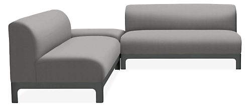 Crescent Outdoor Sectional Modern Outdoor Lounge Seating