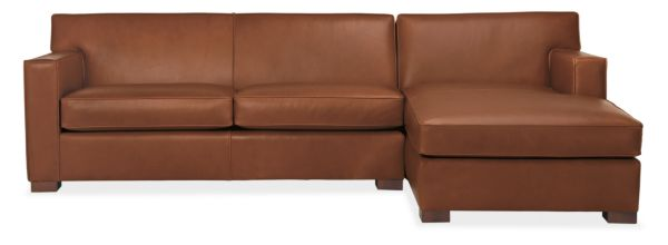 Dean Leather Sofa with Chaise
