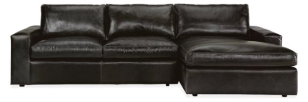 Harding Leather Sofas with Chaise
