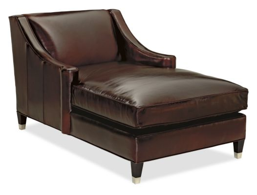 (chaise lounges) Loring Leather Chaise