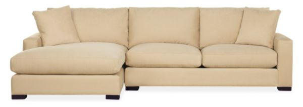 "Sale alerts for Room & Board Metro 120"" Sofa with Left-Arm Chaise - Covvet"