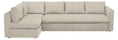 Oxford Pop Up Platform Sleeper Sofa With Chaise Modern