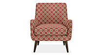 Quinn Chair & Ottoman in Mali Fabric