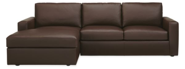 Taft Leather Sofas with Chaise