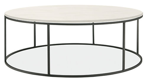 Tyne Round Cocktail Tables in Natural Steel - Modern Cocktail & Coffee  Tables - Modern Living Room Furniture - Room & Board - Tyne Round Cocktail Tables In Natural Steel - Modern Cocktail