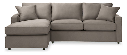 york sofa with chaise modern sectionals modern living. Black Bedroom Furniture Sets. Home Design Ideas