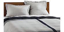 Converge Duvet Cover & Shams in Ink/Grey