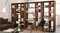 Woodwind Open Back Bookcases, By the Inch