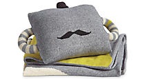 Mustache Pillow & Blanket