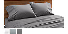 Percale Sheets & Pillowcases in Charcoal