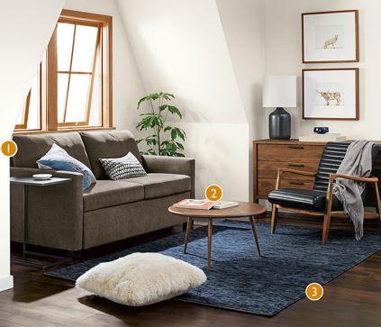 Allston Sleeper Sofa Room Modern Living Room Furniture Room