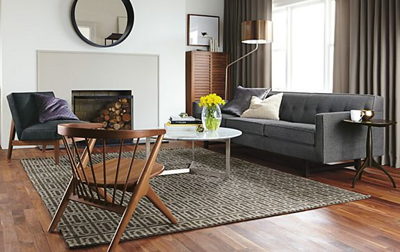 andr sofa with gate rug living room board