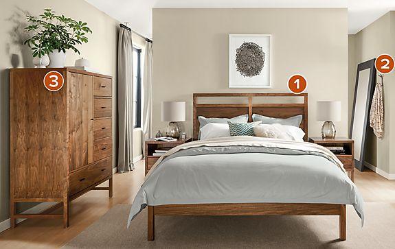 berkeley bedroom collection in walnut - Berkeley Modern Furniture